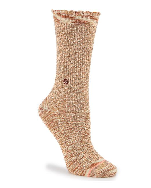 Stance - Natural Venusian Crew Sock - Lyst