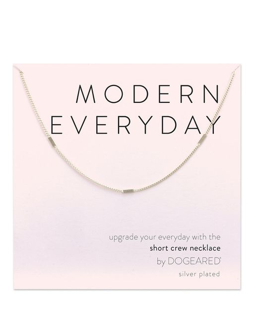 Dogeared - Metallic Modern Everyday Multi Bar Chain Necklace - Lyst