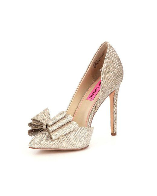 Metallic Bow Detail Prince Pumps CPonl8Og