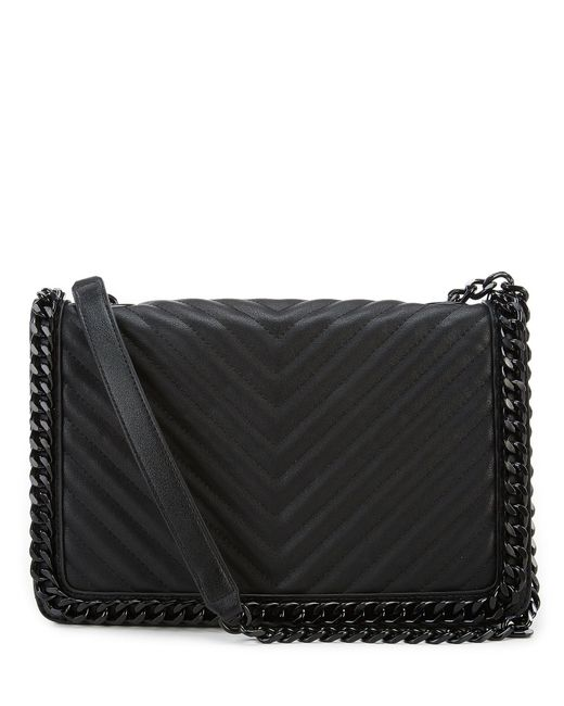 c2e34d2eed2 ALDO - Black Greenwald Quilted Shoulder Bag - Lyst ...