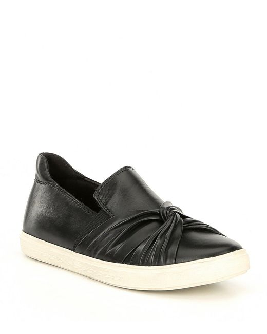 Rockport - Black Cobb Hill Willa Bow Leather Slip On Sneakers - Lyst