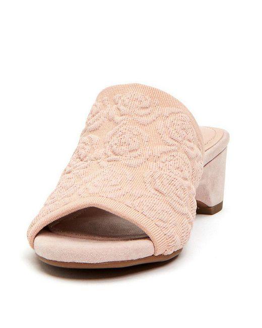 sale excellent Taryn Rose Embossed Slide Sandals sast cheap price K0jDN
