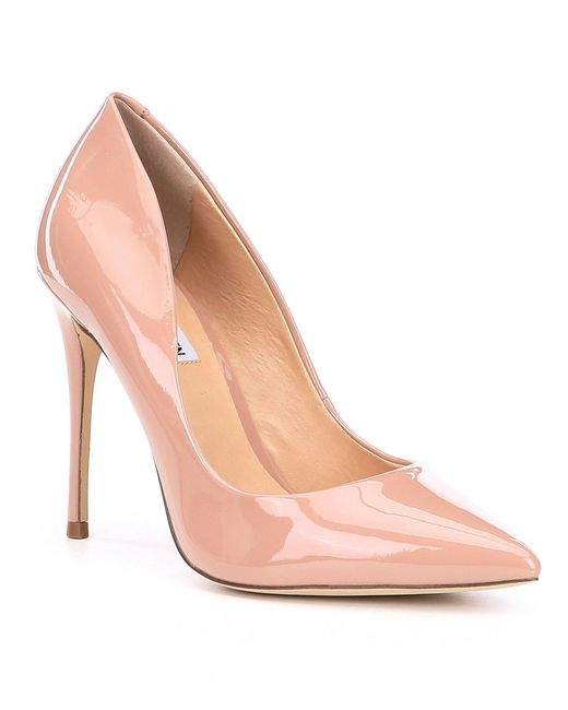 Steve Madden - Blue Daisie Patent Leather Pointed Toe Pumps - Lyst