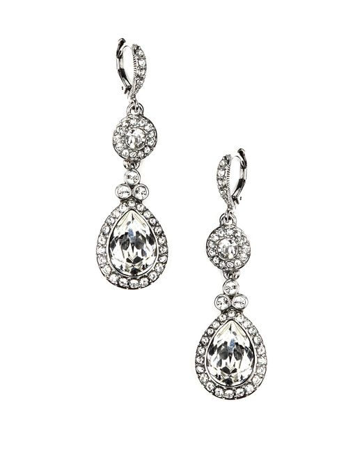 Givenchy - Metallic Crystal Drop Earrings - Lyst