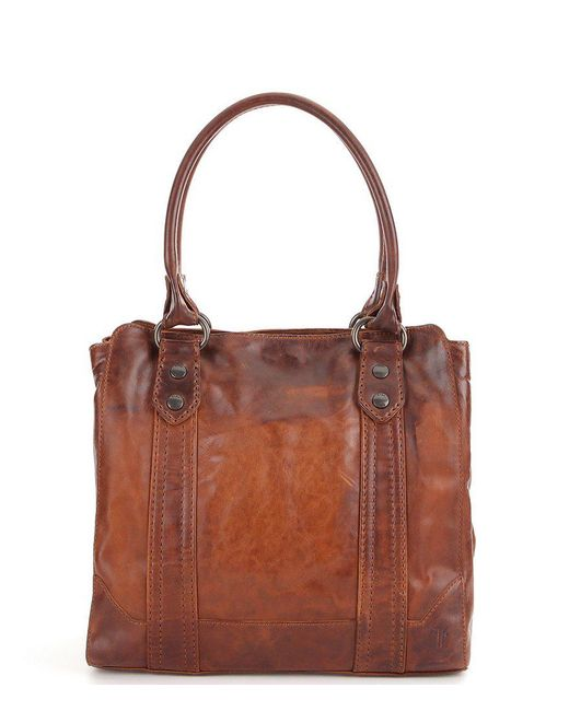 Frye - Brown Melissa Washed Leather Tote - Lyst