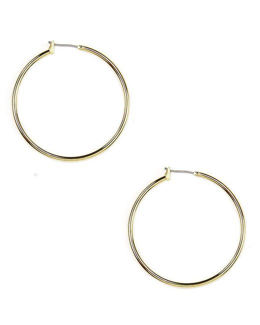 Anne Klein | Metallic Hoop Earrings | Lyst