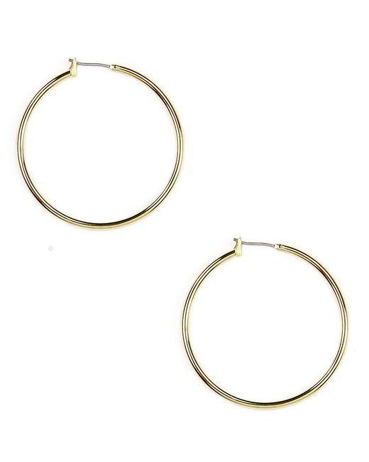 Anne Klein - Metallic Solid Hoop Earrings - Lyst