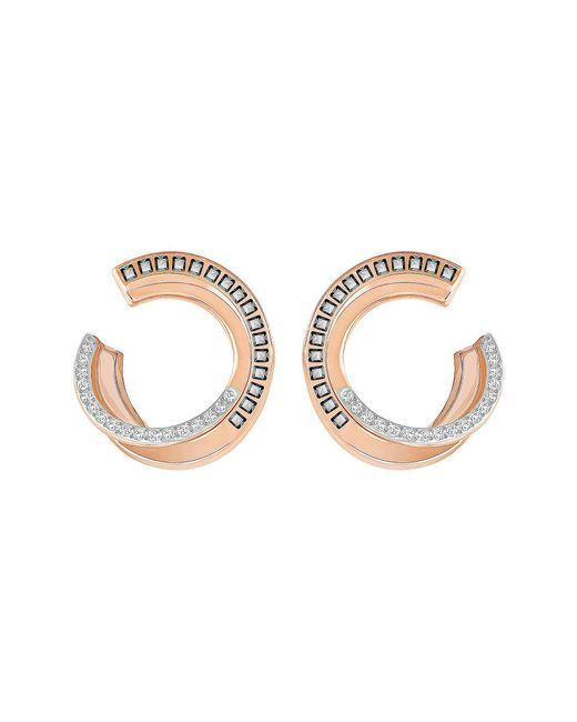 Swarovski - Metallic Hero Pav Hoop Earrings - Lyst