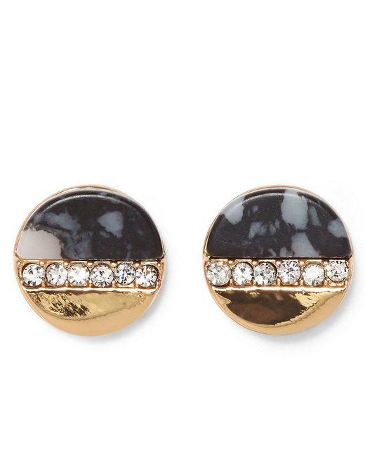Vince Camuto | Metallic Dalmatian Jasper & Pav Crystal Stud Earrings | Lyst