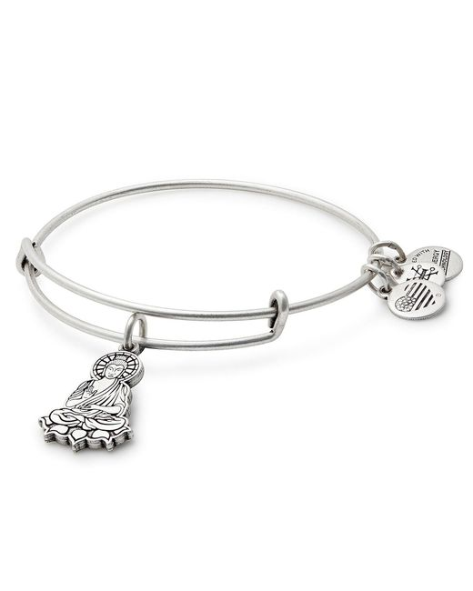 ALEX AND ANI - Metallic Buddha Charm Bangle Bracelet - Lyst