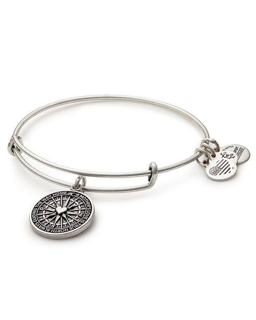ALEX AND ANI - Metallic True Direction Charm Bangle Bracelet - Lyst