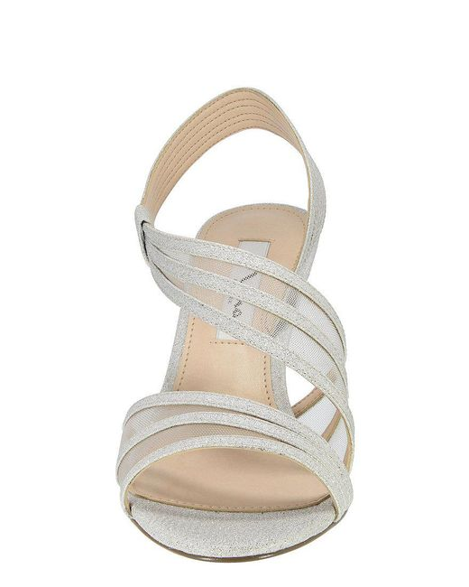 Vitalia Metallic Fabric & Mesh Slip-On Dress Sandals K5KFgOGGuU