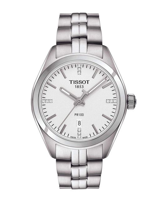 Tissot - Metallic Pr 100 T-classic Analog & Date Bracelet Watch - Lyst