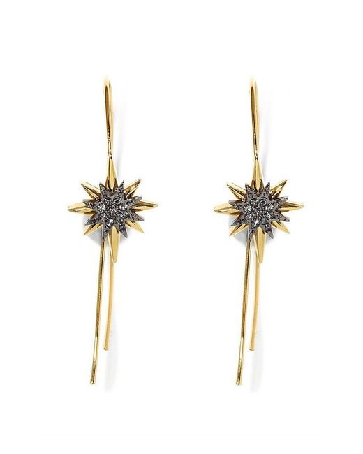 Vince Camuto | Metallic Pav Celestial Star Threader Earrings | Lyst