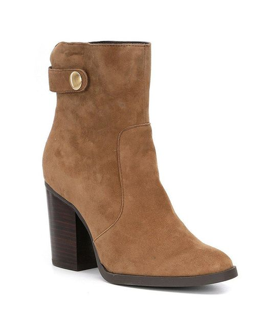 Me Too | Brown Tara Suede Booties | Lyst
