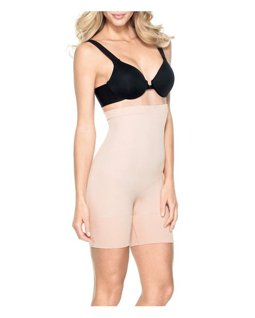 Spanx - Natural New & Slimproved! Slim Cognito High-waisted Mid-thigh Shaper - Lyst