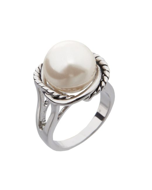 Dillard's - Multicolor Boxed Collection Faux-pearl Stone Rope Ring - Lyst