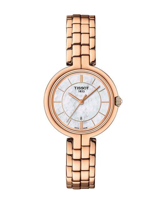 Tissot - Metallic Flamingo Rose Gold Bracelet Watch - Lyst