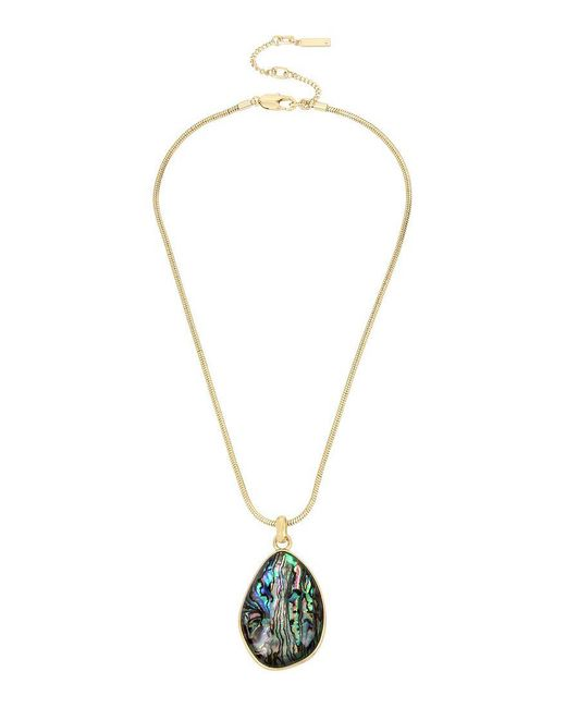 Kenneth Cole | Metallic Abalone Pendant Necklace | Lyst