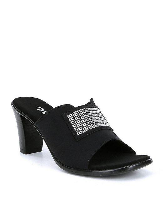 Onex - Blue Suzee Block Heel Dress Sandals - Lyst