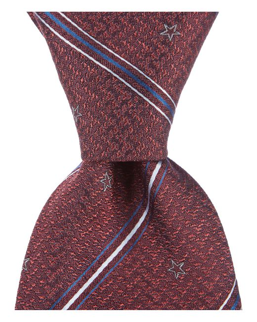 """John Varvatos - Red Star And Stripe Traditional 3.14"""" Silk Tie for Men - Lyst"""