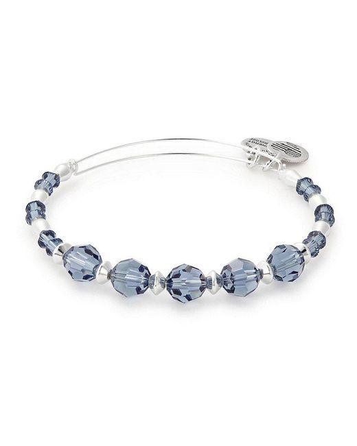 ALEX AND ANI | Blue Swark Bangle Bracelet With Swarovski Crystals | Lyst