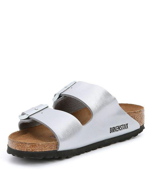 Birkenstock Arizona Metallic Double Banded Buckle Slip On Sandals e1W9rqZgK