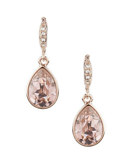 Givenchy - Pink Crystal Drop Earrings - Lyst