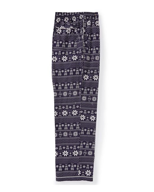 Psycho Bunny - Blue Holiday Fair Isle Woven Pajama Pants for Men - Lyst