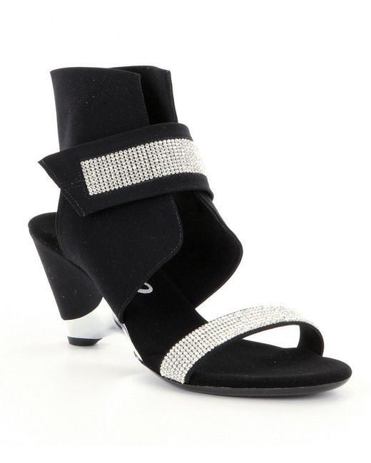Onex | Metallic Celebrity Rhinestone Ankle Strap Dress Sandals | Lyst