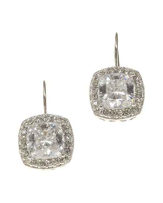 Nadri | Metallic Framed Cushion-cut Cz Drop Earrings | Lyst