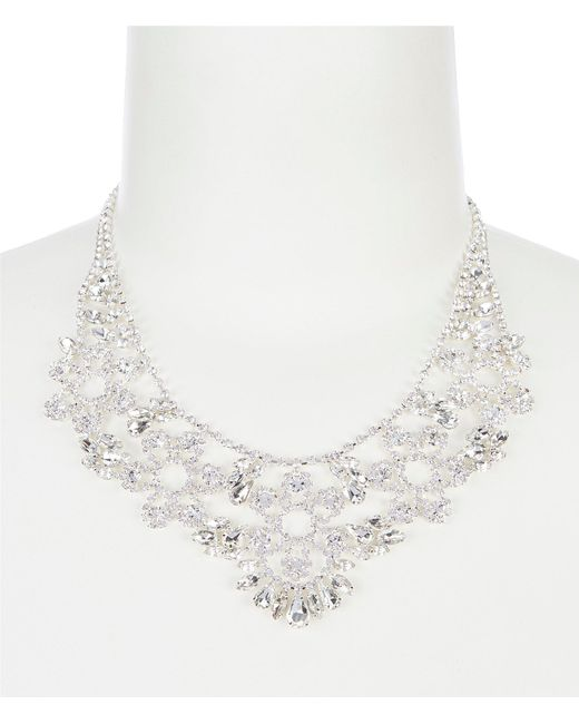 Cezanne - Metallic Floral Statement Necklace - Lyst