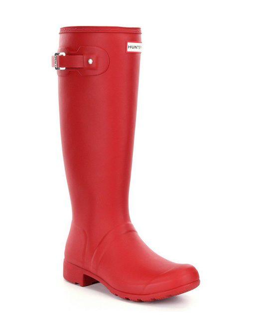 Hunter - Black Original Matte Tour Rain Boots - Lyst