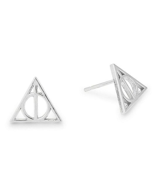 ALEX AND ANI | Metallic Harry Pottertm Deathly Hallowstm Sterling Silver Stud Earrings | Lyst