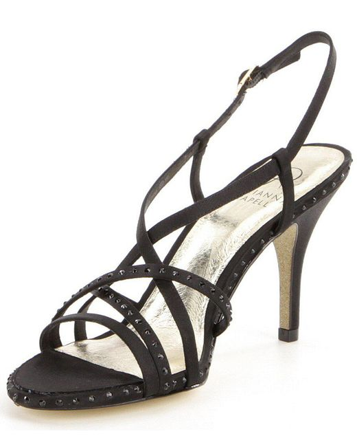 Adrianna Papell Acacia Rhinestone-Embellished Satin Strappy Dress Sandals 4dkhxeUo