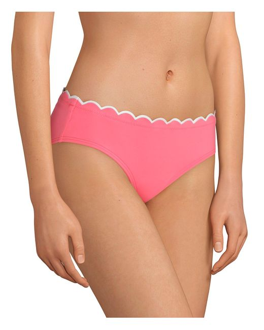faffd70676 Kate Spade - Pink Scallop Wave Contrast Hipster Bikini Swimsuit Bottom -  Lyst ...