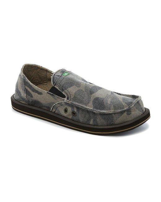 Sanuk - Green Camo Pick Pocket Slip-on Shoes for Men - Lyst