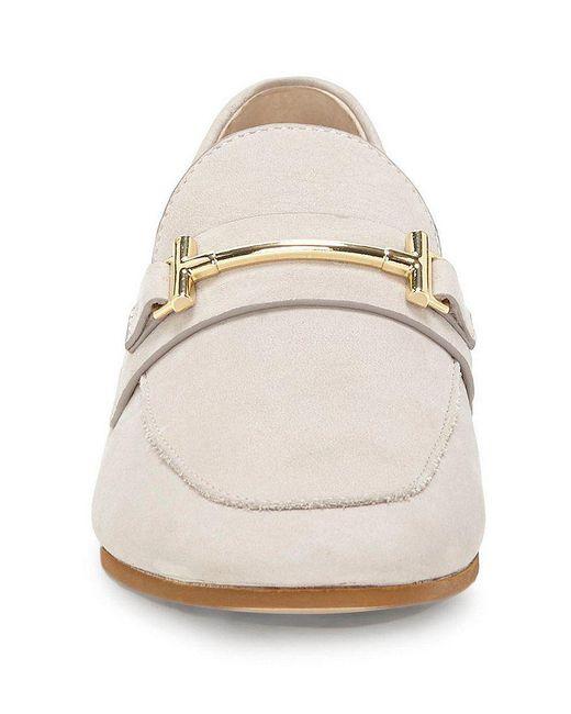 Tatye Nubuck Leather Gold Bit Embellishment Block Heel Loafers bk8t7WoF3E