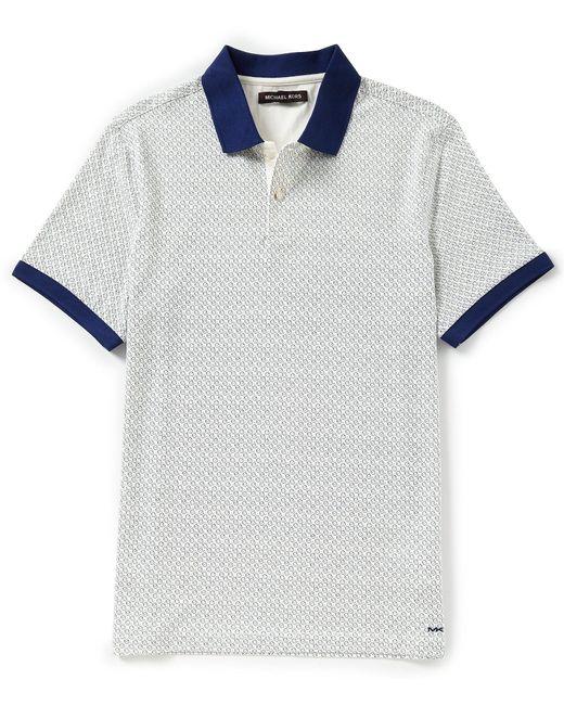 Michael Kors - Blue Mercerized Printed Short-sleeve Polo Shirt for Men - Lyst