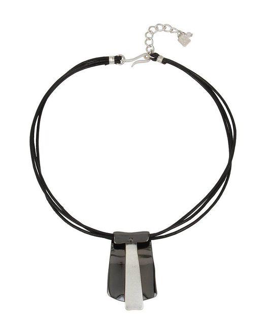 Robert Lee Morris   Metallic Leather Pendant Necklace   Lyst
