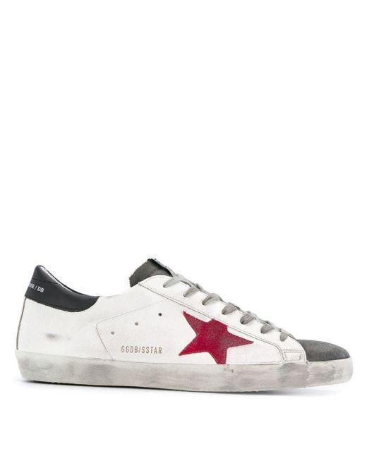 Golden Goose Deluxe Brand White Superstar Model Sneakers for men
