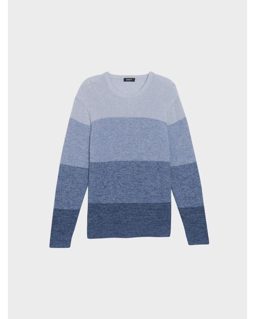 DKNY - Blue Colorblock Ombre Crew for Men - Lyst