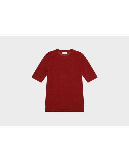 DKNY | Red Pure Short Sleeve Crew Neck Pullover | Lyst