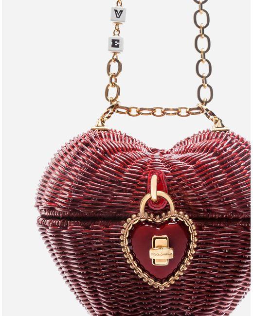 Dolce & Gabbana Boîte Sac À Bandoulière Coeur - Rouge Commander Prix Pas Cher Sortie D'usine De Sortie Coût De La Vente Pas Cher Sites De Réduction Meilleur Jeu f8aju
