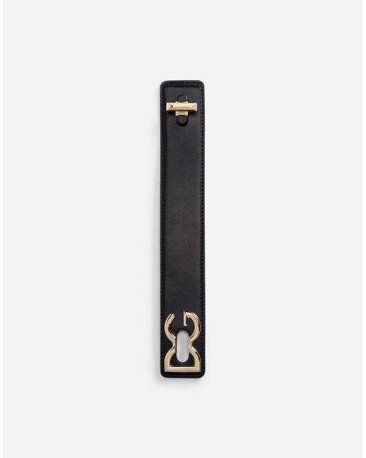 Dolce & Gabbana - Black Calfskin Bracelet - Lyst