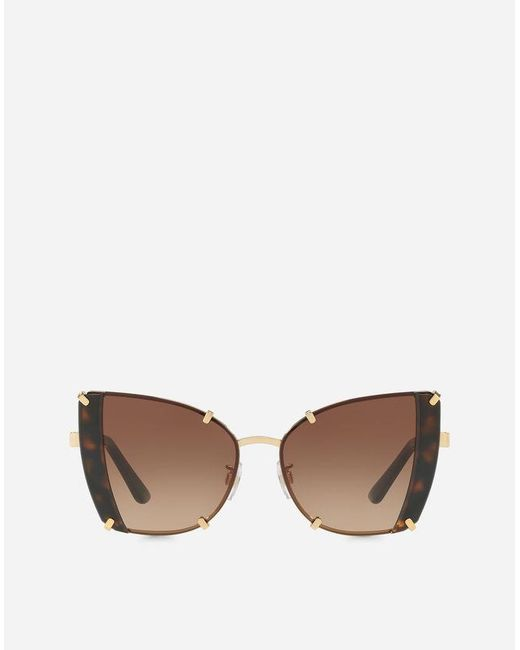 99956ab3eb5 Dolce   Gabbana Faceted Butterfly Sunglasses in Brown - Save 1% - Lyst