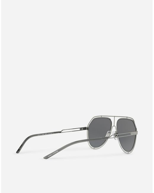 00f2fa9bb98 ... Lyst Dolce   Gabbana - Metallic Aviator Sunglasses With Metal Rims for  Men ...
