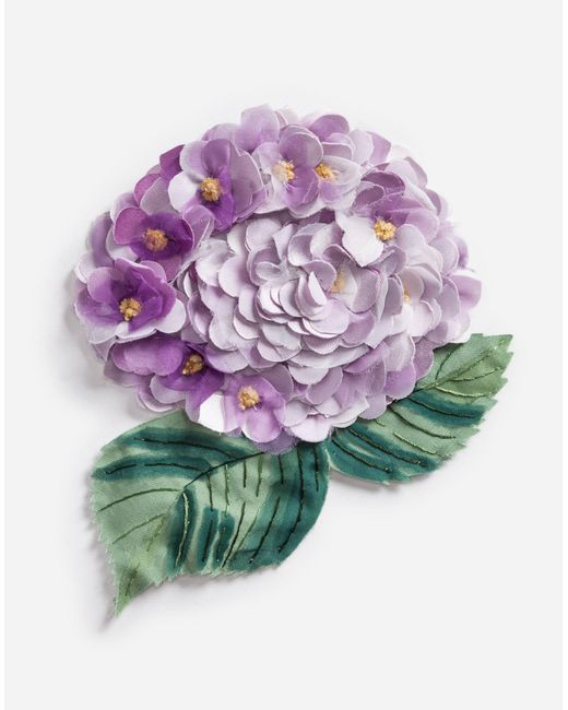 Dolce & Gabbana   Pink Brooch With Hydrangea Decorative Detail   Lyst