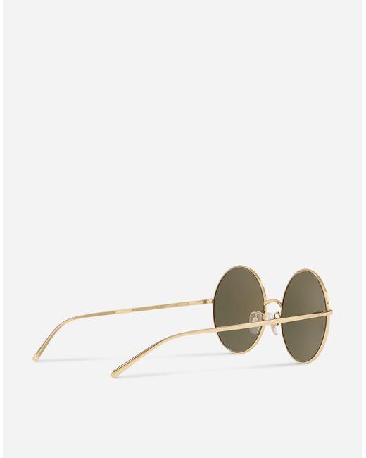 a8a08f934c92 ... Lyst Dolce   Gabbana - Metallic Gold Edition Sunglasses ...