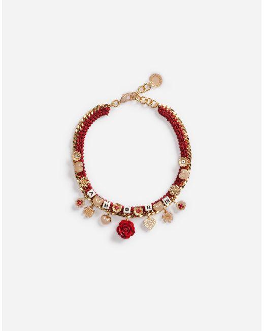 Dolce & Gabbana | Metallic Necklace With Decorative Details | Lyst